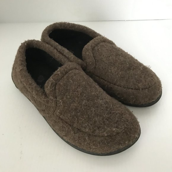 Acorn Other - ACORN Brown Wool Blend Slip On Moccasin Slippers